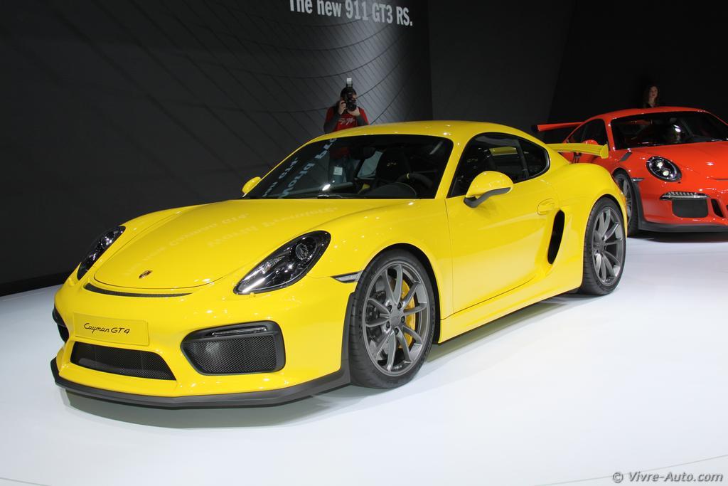 Genève 2015 : les photos de la Porsche Cayman GT4