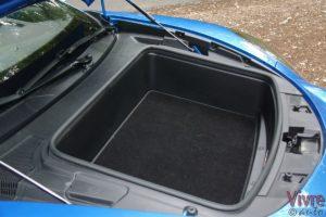 Photo du coffre avant de l'Alpine A110 Pure