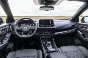 Photo de l'intérieur du nouveau crossover Nissan Qashqai 2021